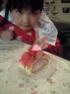 090313パパのホワイトデーケーキ実織1