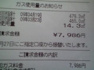 090419ガス代