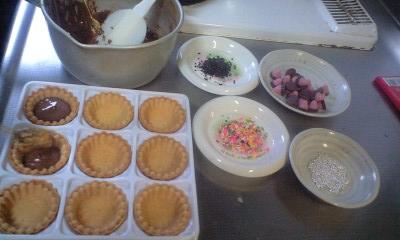 090506パパの誕生日チョコ作り1