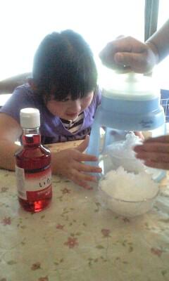 090607かき氷作る