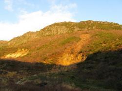 朝焼けの山並み