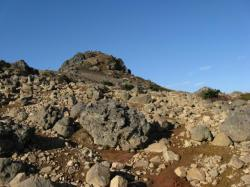 安達太良山の青い空