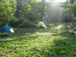 朝のキャンプ 尾瀬
