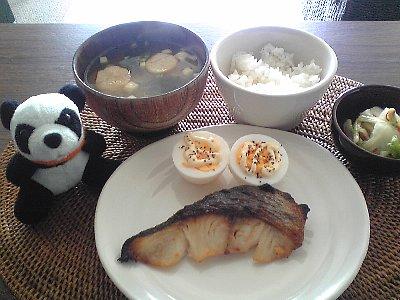 銀ダラの朝食
