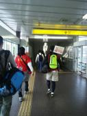 大阪マラソン応援準備万端のタカッチさん