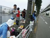 大阪マラソンエイド準備中