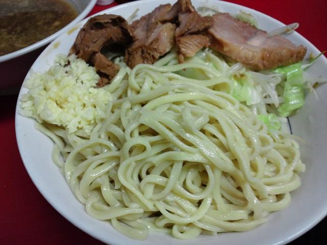 西台駅前店つけ麺メン皿20110820