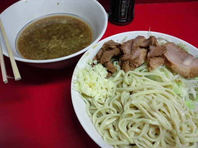 西台駅前店つけ麺小ニンニク20110820
