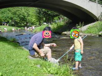 すずらん川遊び