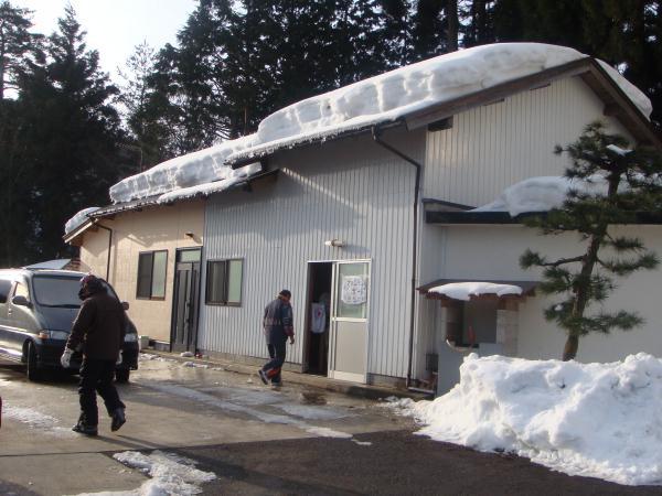 凍結した屋外