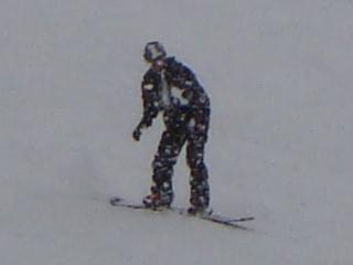 スカイバレースキー場にて