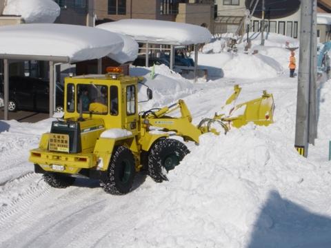 排雪の作業1