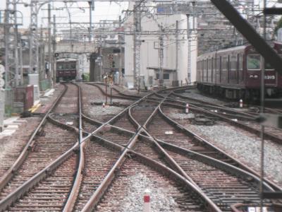 淡路駅東側
