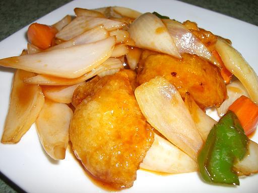 白身魚甘酢
