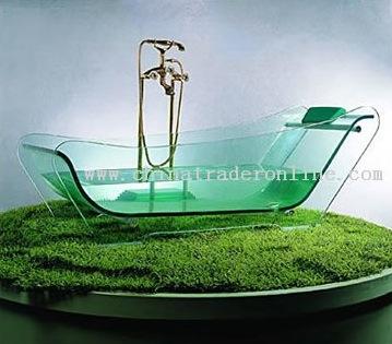 防弾ガラス製のバスタブ