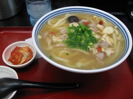 参鶏湯うどん