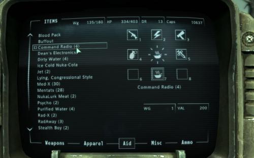 Enclave Commander Shortcut