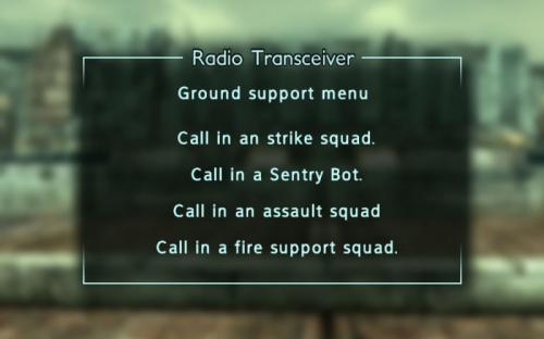 Enclave Commander Ground support
