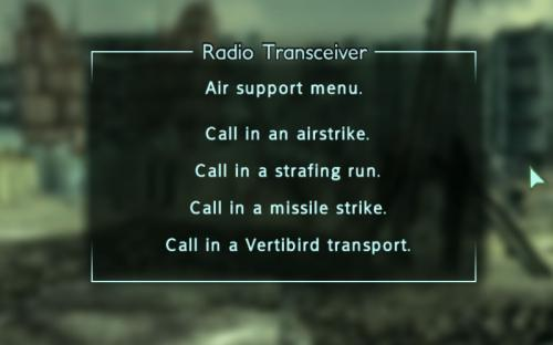 Enclave Commander Air support