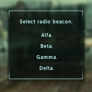 Enclave Commander radio beacon