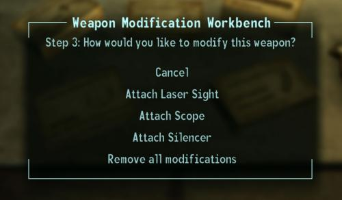 Weapon Mod Kits bench kit menu