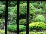 蕎屋の窓から覗く風景