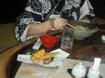 同居人は天ぷら蕎麦ー