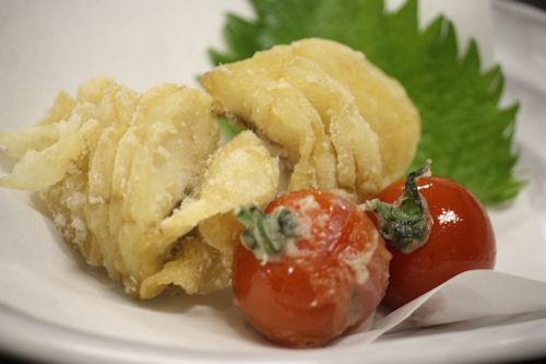 アイナメの唐揚げとミニトマトの天ぷら
