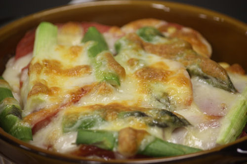白身魚とトマト・野菜のチーズ焼