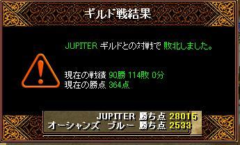 11月16日「JUPITER」ギルド結果