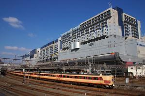 雷鳥と京都駅ビル
