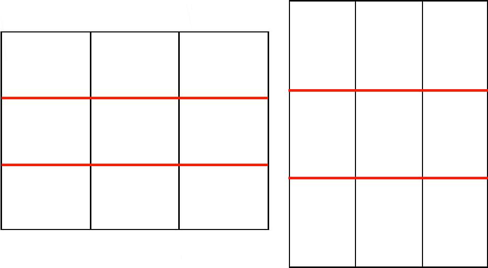 3分割法横線説明