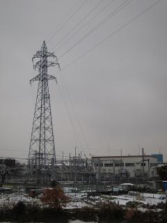 JR東海の鉄塔 岡崎12号と岡崎変電所