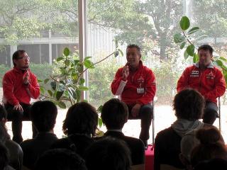増岡浩氏と田口勝彦氏のトークショー