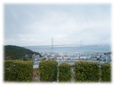 淡路サービスエリアから見える明石海峡大橋
