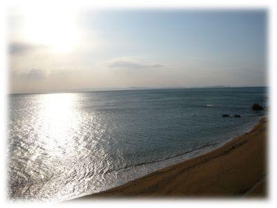 民宿厚浜のベランダから見える景色