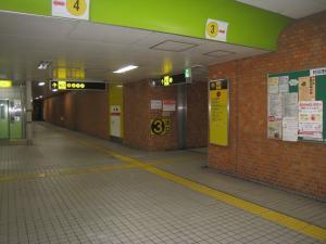 地下鉄谷町線文の里駅案内板2