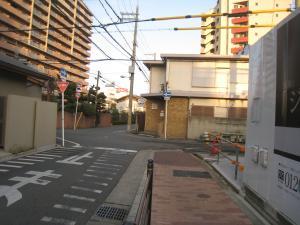 阿倍野区文の里の道