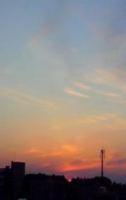 1月27日夕焼け