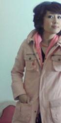 桃色コート
