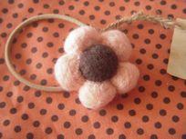 羊毛フェルト お花ヘアゴム
