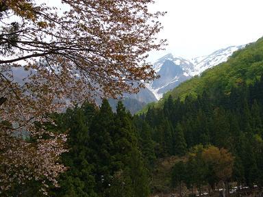 清水部落から割引岳
