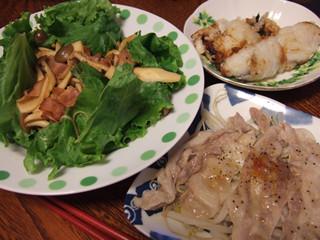 プリサラ+太刀魚梅しそ巻き+もやし豚