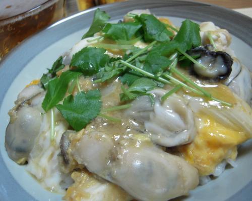 牡蠣の味噌風味丼