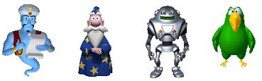 ジニー(Genie) マーリン(Merlin) ロビー(Robby) ピーディー(Peedy)