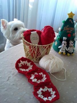 モチーフ編み始め