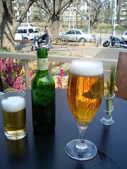 昼間のビール