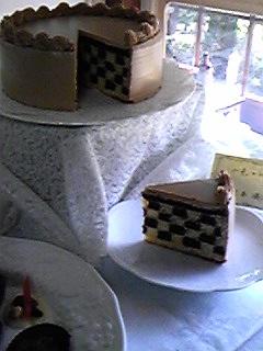 中が市松模様のシフォンケーキ