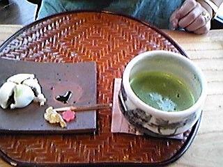和風喫茶の抹茶セット