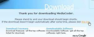MediaCoderダウンロード ダウンロードが始まらなければthis linkをクリック